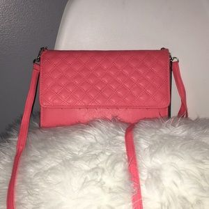 Coral colored purse Walet